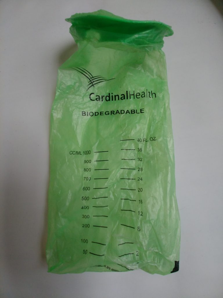 cardinal Health biodegradable emesis bag