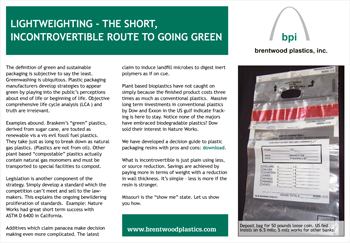 Learn about lightweighting - the short, incontrovertible route to going green.
